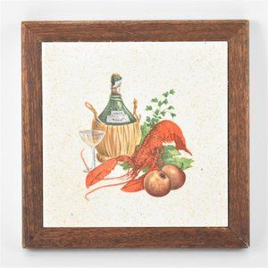 Classic Lobster and Chianti Tile Art